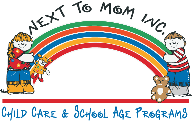 next to mom logo
